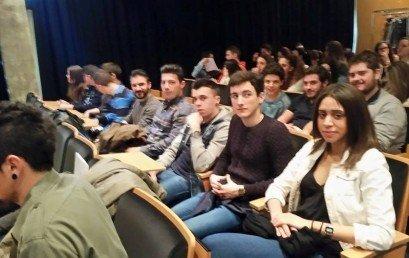 """Els alumnes d'Administració i Finances assisteixen a la Conferència """"Emprendre amb Valors"""" a Barcelona Activa"""