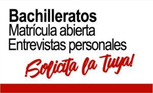 Bachilleratos - Matrícula Abierta