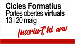 Cicles Formatius a Prat Educació - Portes Obertes Virtuals 13 i 20 de maig