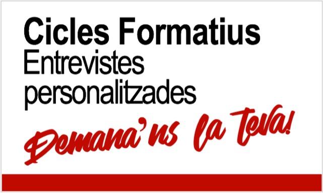 Cicles Formatius de Grau Superior a Prat Educació - Entrevistes personalitzades