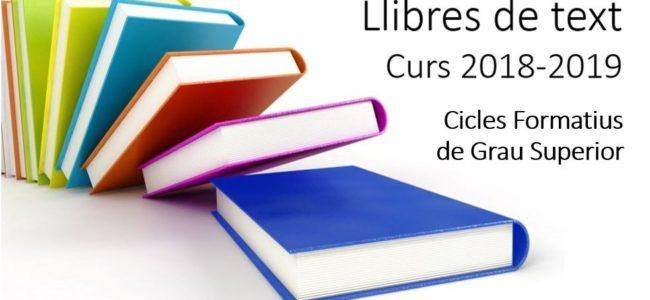 Llibres de text CFGS 2018-2019