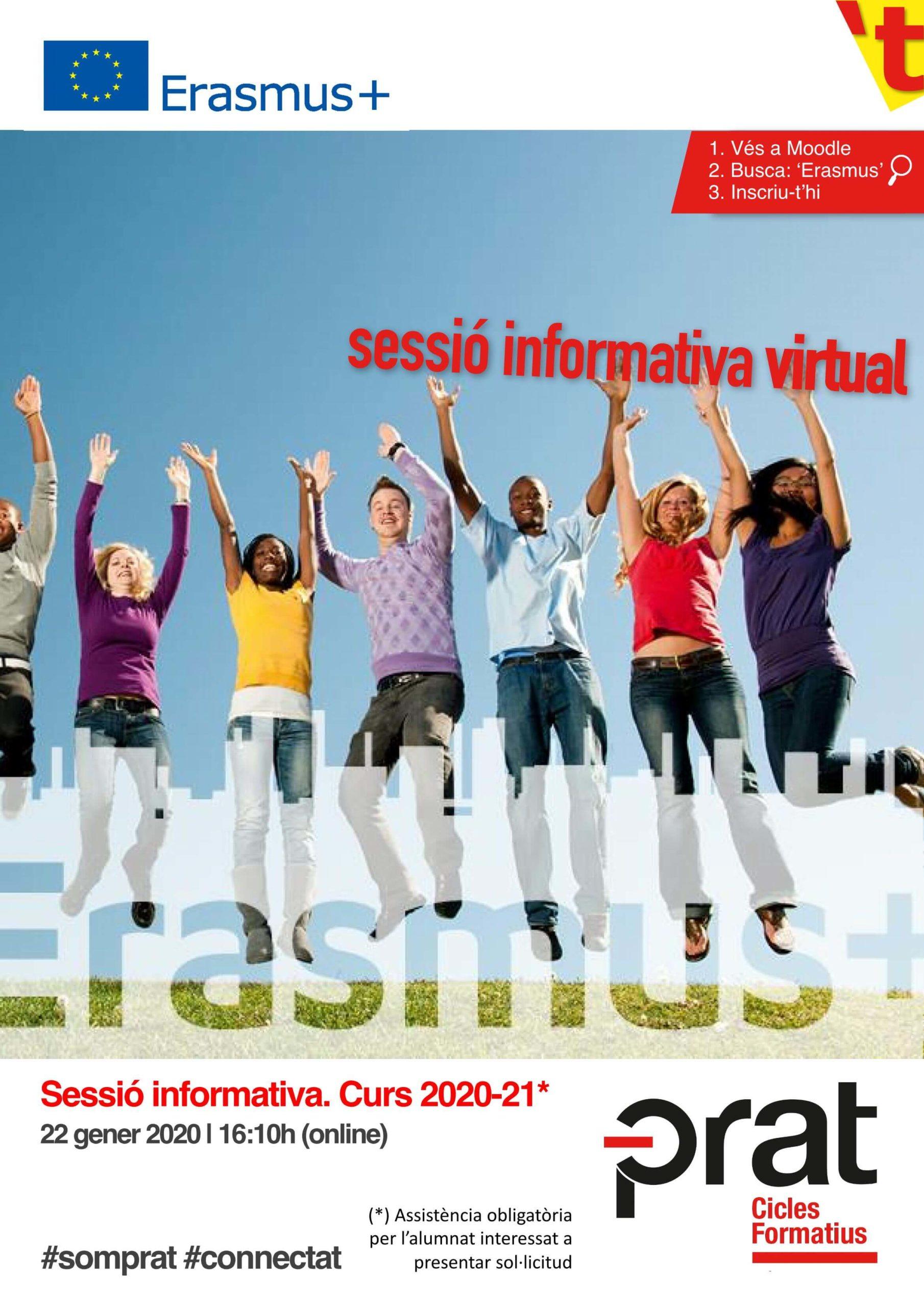 Sessió informativa d'Erasmus+, curs 20-21