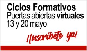 Ciclos Formativos en Prat Educación - Puertas abiertas virtuales 13 y 20 de mayo