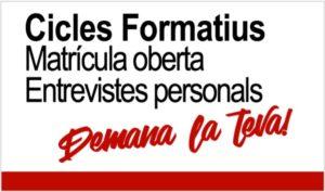 Cicles Formatius - Matrícula Oberta
