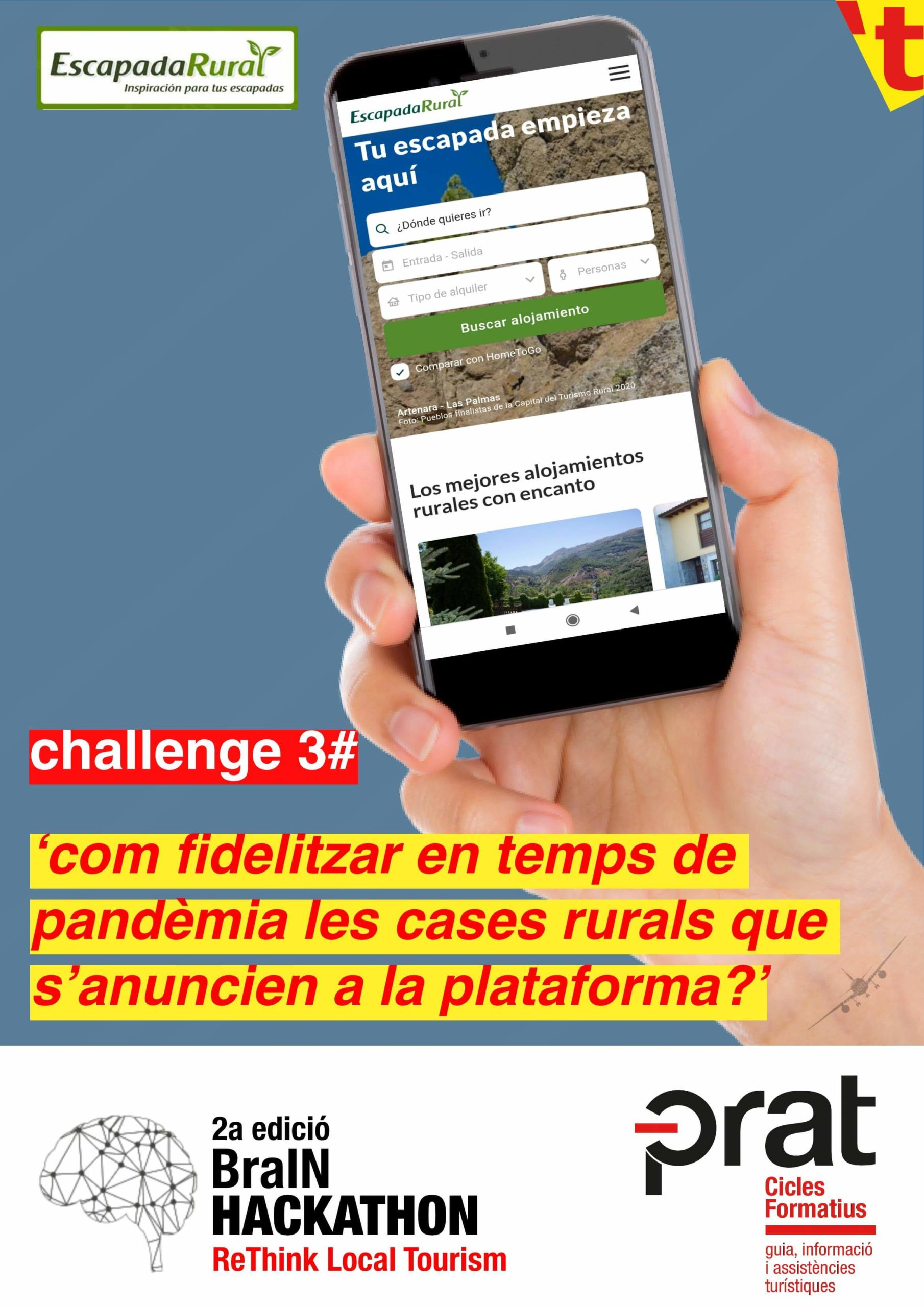 Hackathon de Turisme: repte 3 - Cicle Formatiu de Grau Superior de Turisme a Prat Educació