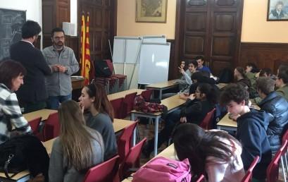 Alumnes de Batxillerat a la xerrada sobre orientació universitaria i laboral