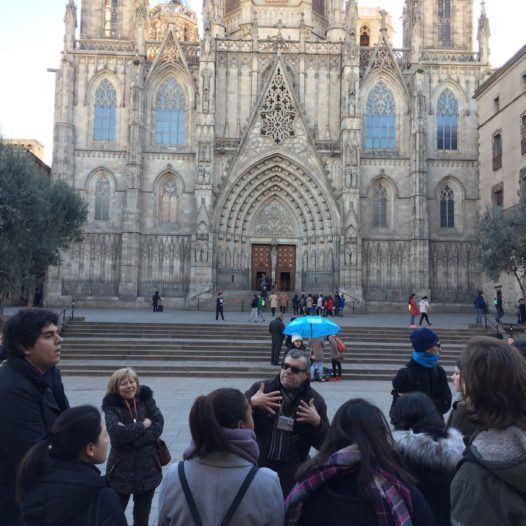 Visita guiada a la Catedral de Barcelona dels alumnes d'Història de l'Art i Turisme