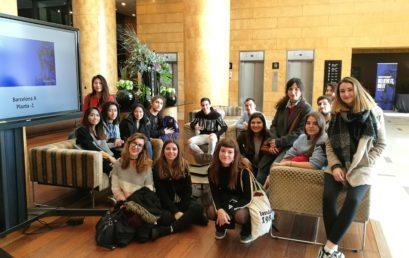 Visita dels alumnes de Turisme a l'Hotel Catalonia Plaza