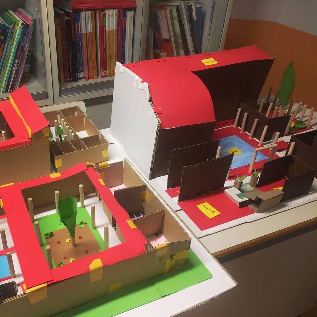 Construcció d'una domus romana dels alumnes de Batxillerat
