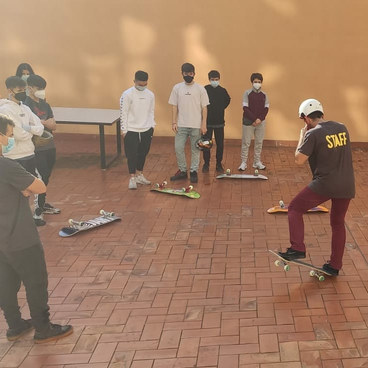 Taller d'skateboarding amb els alumnes de Batxillerat