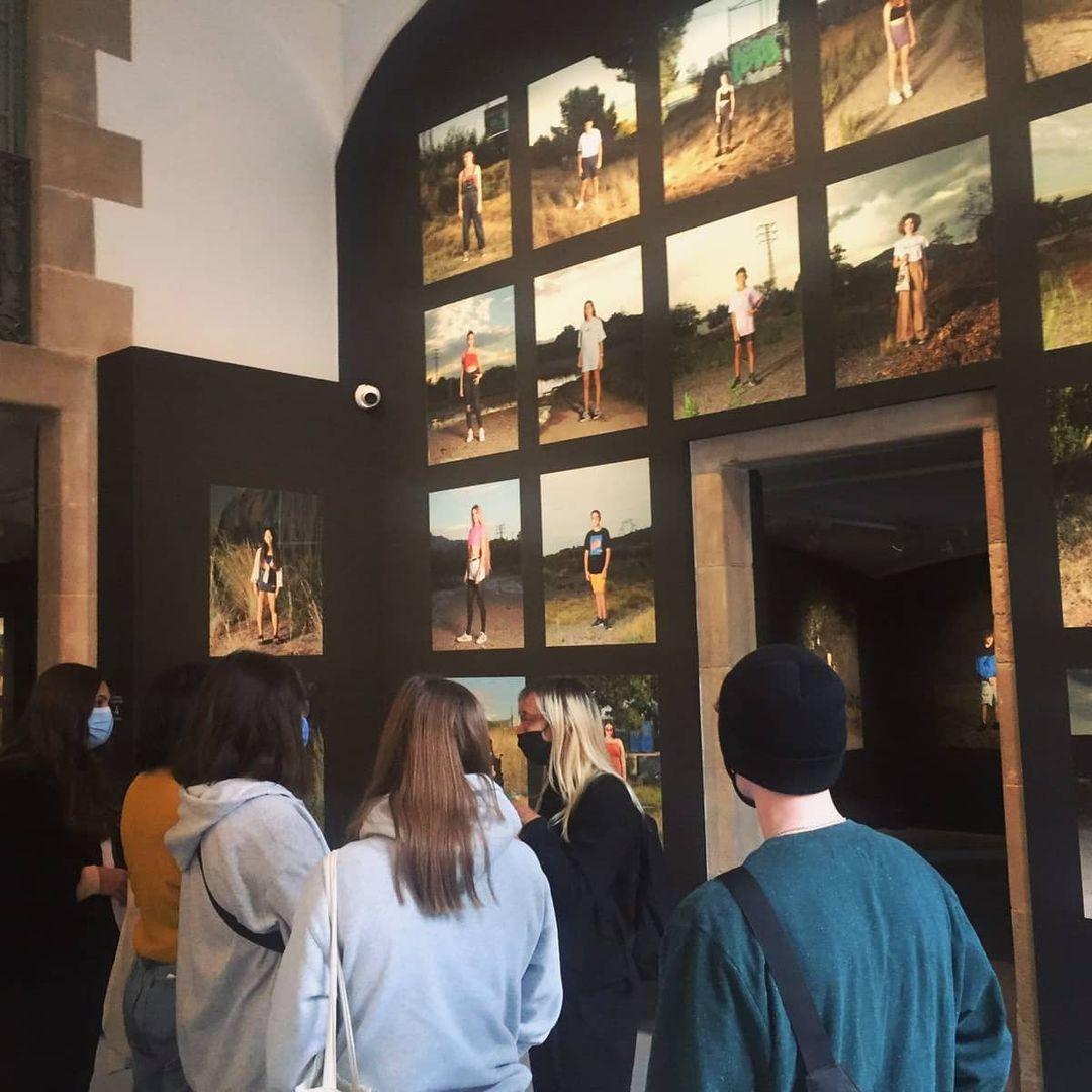 Palau de la Virreina amb els alumnes de Batxillerat