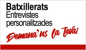 Batxillerats curs 21-22: Entrevistes personalitzades - Prat Educació
